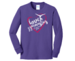 Youth Gymnastics Long Sleeve Purple